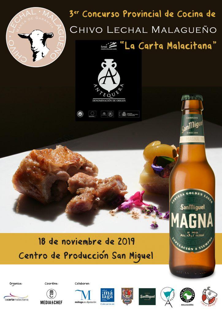 Cartel III Concurso LCM de Cocina con Chivo Lechal Malagueño